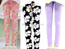 Girls leggings with flower baby girls capris pencil pants