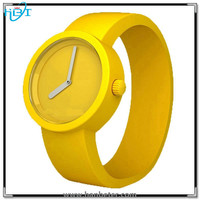 Colorful silicone band watch women/men casual style bracelet watch waterproof