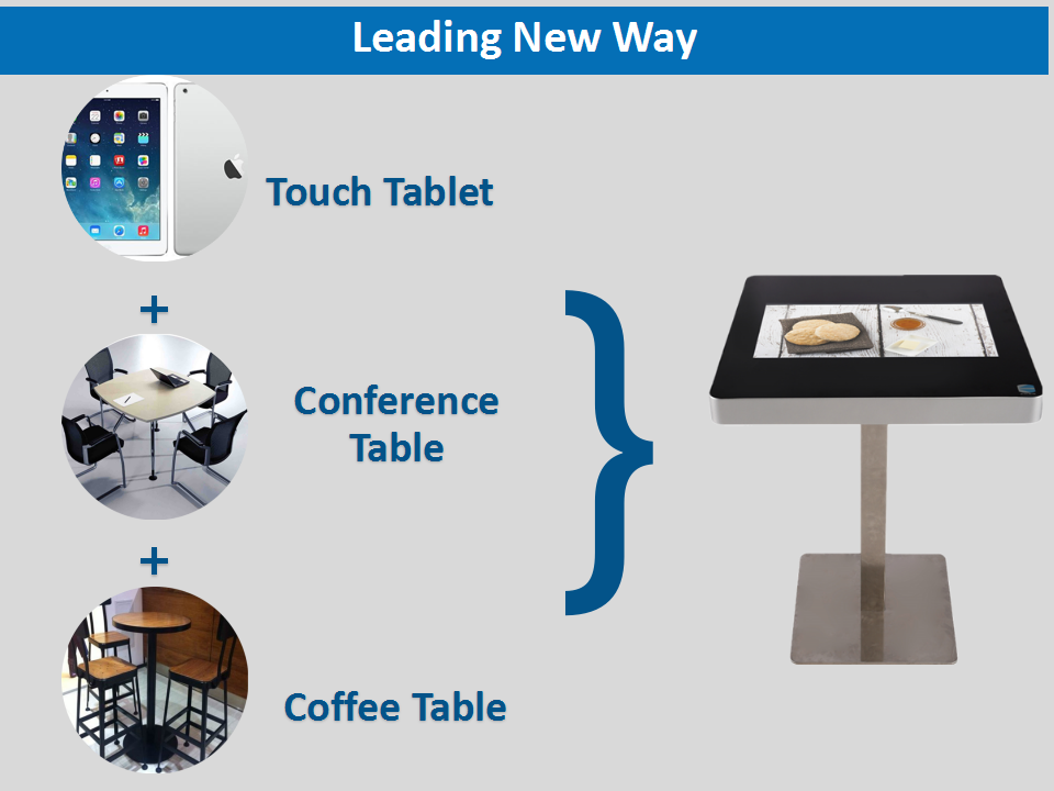 Super thick Android smart touch restaurant Square glass dinning table