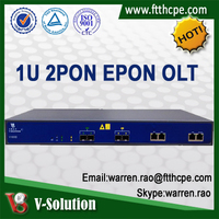 2PON GEPON OLT Optical Access Terminal Equipment Support L3 with Cisco Style CLI Management 10GE uplink sfp Olt Product