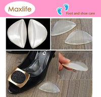 Clear Silicone Gel Arch Support Pad Shoe Insert High Heel Insole Wedge Cushion Insoles for Flat Feet