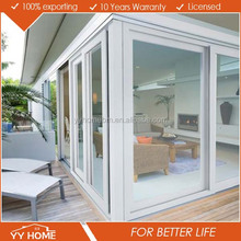 Australian Standard aluminum glass powder coating corner partition wall sliding door