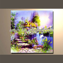 Popular modern handpainted traditional landscape design painting