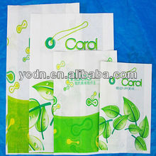 printed high quality brown and white kraft food paper bag