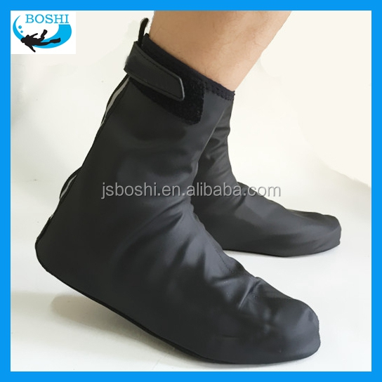 black PU Fleece Lined gardening galoshes overshoes