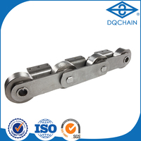 Best quality light equipments row straight plate conveyor chain,table top bottle washing chain