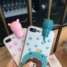 soft lovely pig animal cute cartoon girl case phone accessories case for iphone 6 7 8 X, for Samsung galaxy S2 S4 note7