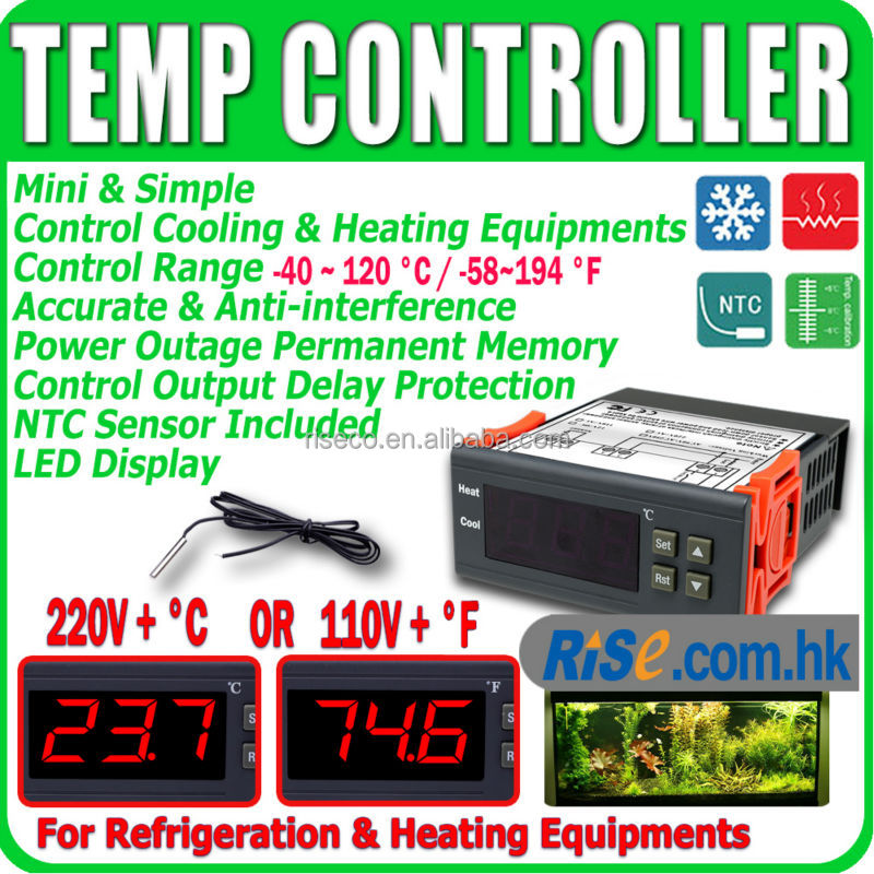 Relay 110V F 220V C Aquarium Digital Temperature Temp Controller Thermostat