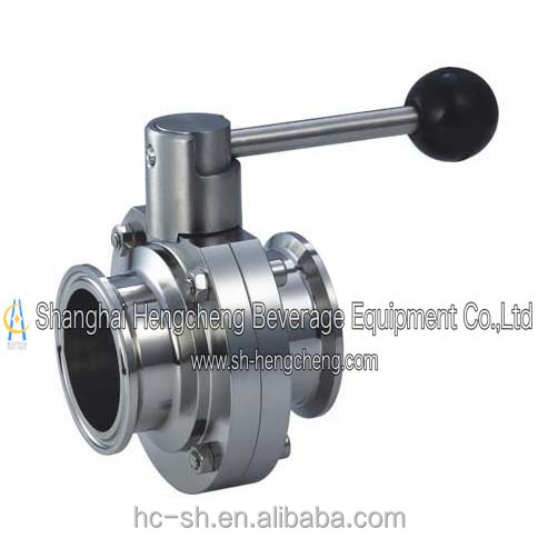 Stainless Steel Sanitary High quality Pneumatic butterfly, clam check exquisite valve Designed Equipment parts