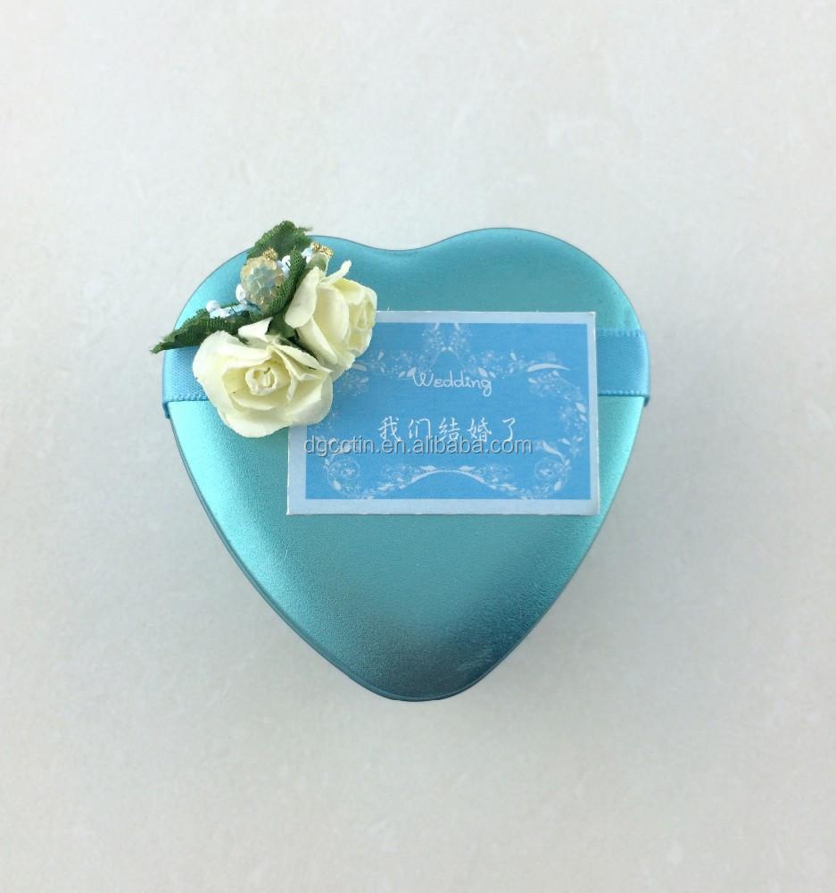 Dongguan lovely delicate wedding gift tin box package for chocolate