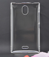 Hot selling transparent PC hard plastic case phone cover for nokia x2-01