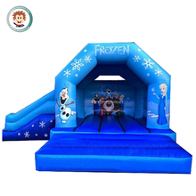 Hot selling inflatable blue jumping bed children bounce house indoor