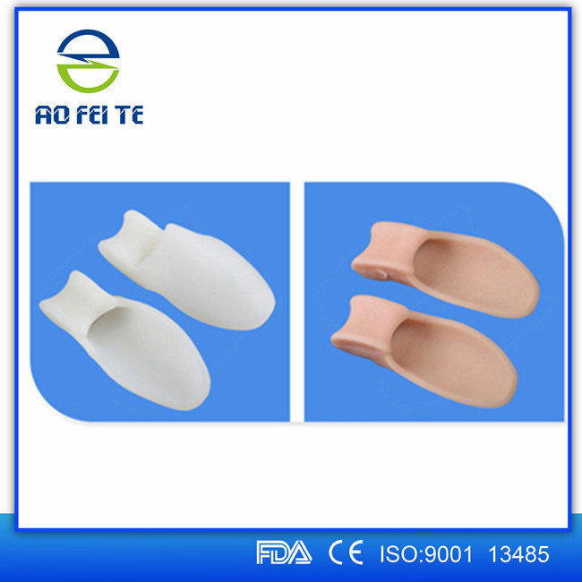 Best selling product in Amazon toes orthopedic silicone bunion splint double loop silicone bunion toe separator splint