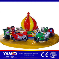 Yamoo Funny Game Machine Amusement Park Rides Outdoor Amusement Equipment kiddie ride moto racing rides for children