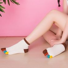 Fashion five finger toe socks women 100 cotton fingers socks cotton spot breathable five toe socks wholesale