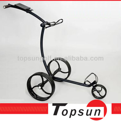 Stainless steel electric golf trundler muscle golf trolley quite tubular motors