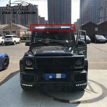 G class carbon front roof spoiler with led for MB W463 g wagon g500 g550 g63 g65 roof spoiler
