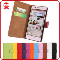 RF Manufacturer Book Style Pouch Pocket Card Holders Stand Wallet Leather Cover for Huawei Ascend P6 Case