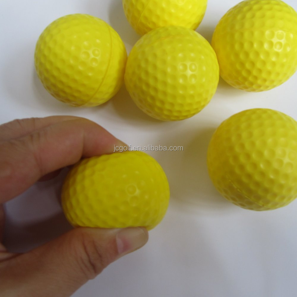 Indoor practice Yellow foam golf ball