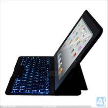 LED lighting bluetooth keyboard case with stand for iPad 2/3/4