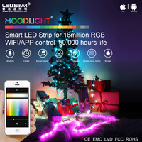 Christmas App control LED wifi power strip change by music smart mobile phone light 7W
