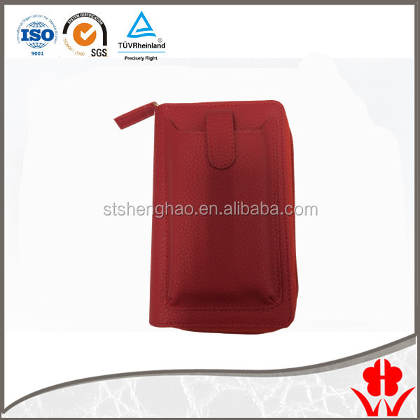 Cell phone pouch wallet Litchi PVC phone bag