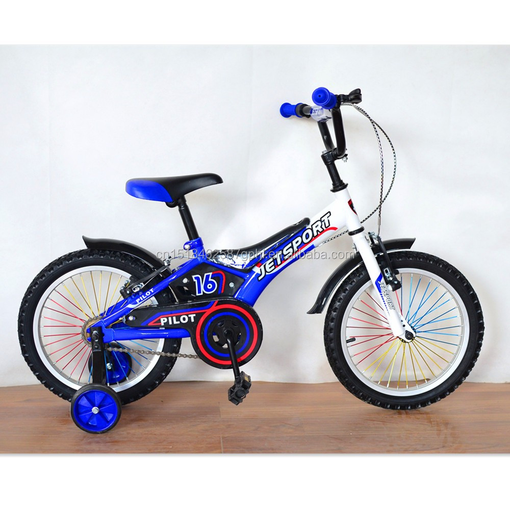 16 inch kids bicycle children bike with cushion and training wheels