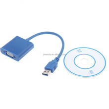 High speed hdmi to vga with audio spliter cable for TV PC Projector.