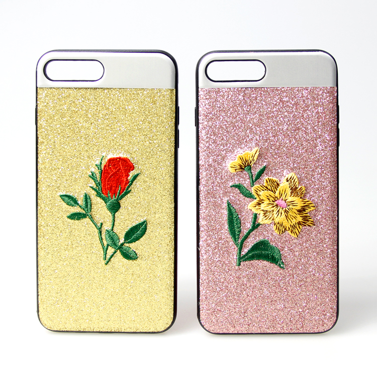 High Quality Cheap Phone Case Embroidered Giltter Sticker Mobile Phone Cases For samsung j5 2017