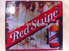 High quality with 3d custom tin beer sign,embossing advertising metal tin sign
