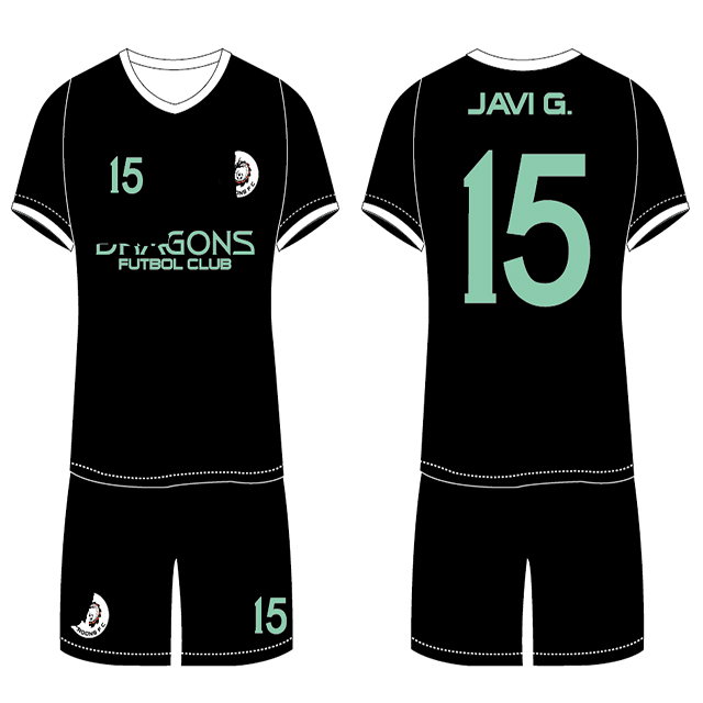 2018 Hight quality team wear green logo customized 100% polyester green soccer jerseys