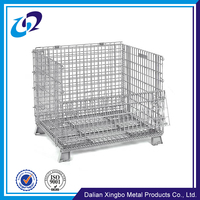 China manufacturer supplier Foldable stackable welded warehouse storage containers