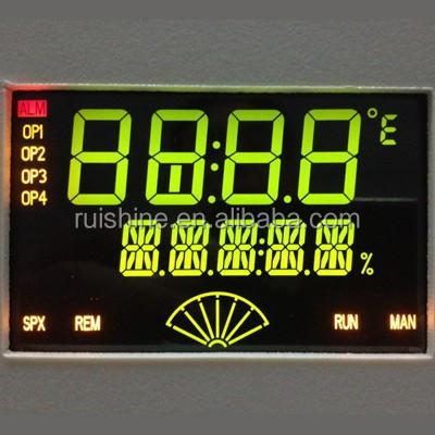 VA Negative TN BTN type lcd segment display with black background