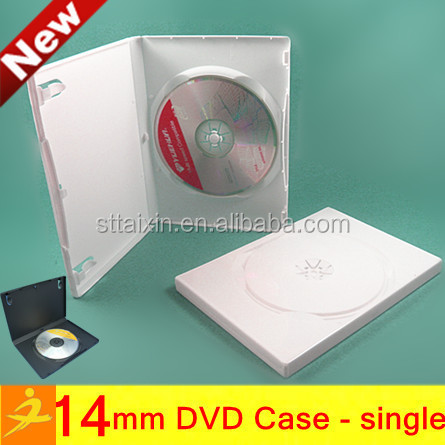 Taixin 14mm white kids dvd case