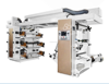 Flexo printing machine for plastic film