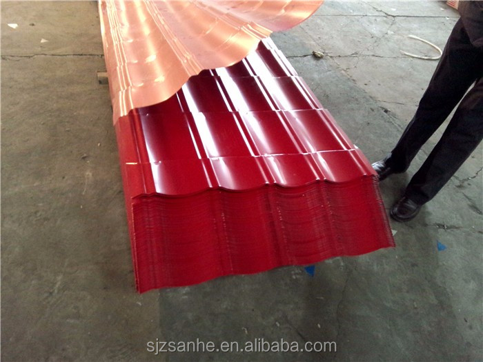 corrugated sheet metal insulation/gauge thickness galvanized corrugated steel sheet