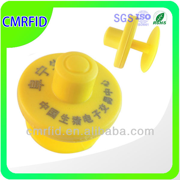 Hot Sale LF/ HF rfid animal ear tag for cattle/pigs/cows/sheep livestock management