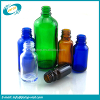 Clear Amber Blue and Green Glass Essential Oil Bottle