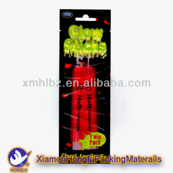 Full color printing Glow stick packing bag