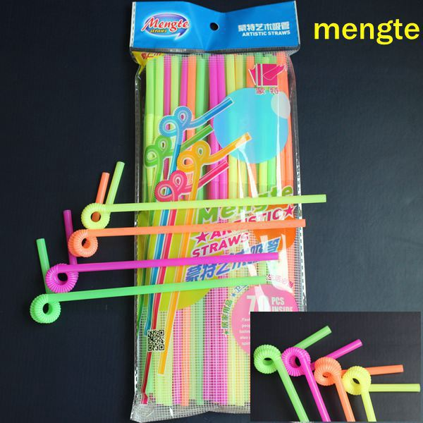 Colorful extendable hard cocktail drinking straw for party