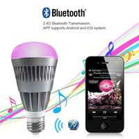 Phone Control Colorful Music LED Light Bulb Bluetooth Speaker 2 IN 1 Portable Music Smart Bubble Lamp 5W for IOS &Android