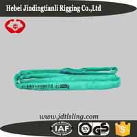 2 ton Polyester round lifting safety sling with double eyes