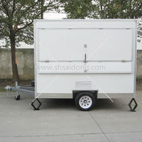 fiberglass mobile hot dog trailer street fast food vending trailer for sale with big wheel