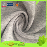 100% cotton knitted stretch elastic microfiber heather plain fabric