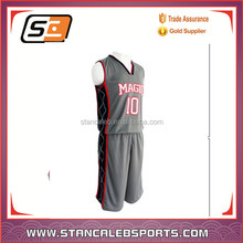 Stan Caleb 100%polyster custom double mesh wholesale cheap basketball uniforms /term set basketball wear