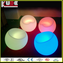 Modern fashion LED illuminated furniture LED apple shaped Plastic bar stool with wireless remote control