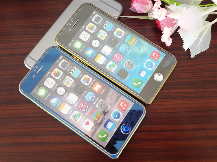 For iphone 7 7plus Front+Back 2.5D Color Plating Electroplate Mirror Tempered Glass For iPhone 7 7Plus Screen Protector Film