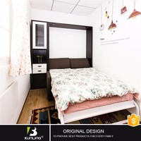 Modren Transformer Sofa Wall Bed Teak Wood Double Bed Designs