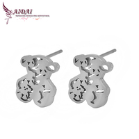 Bear fashion stud earring designs new model fancy earrings With Stainless steel