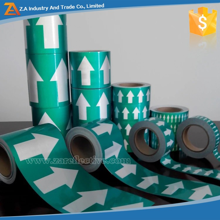 Self Adhesive Vinyl Pipe Banding Markers & Pipe Marking Arrow Wrap Tape